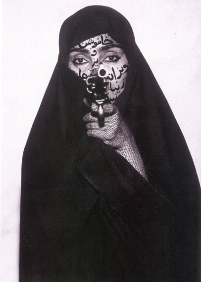 SHIRIN NESHAT: Faceless (from the series Women of Allah) 1994Fondazione Sandretto Re Rebaudengo, Torino © Shirin Neshat, courtesy the artist and Gladstone Gallery