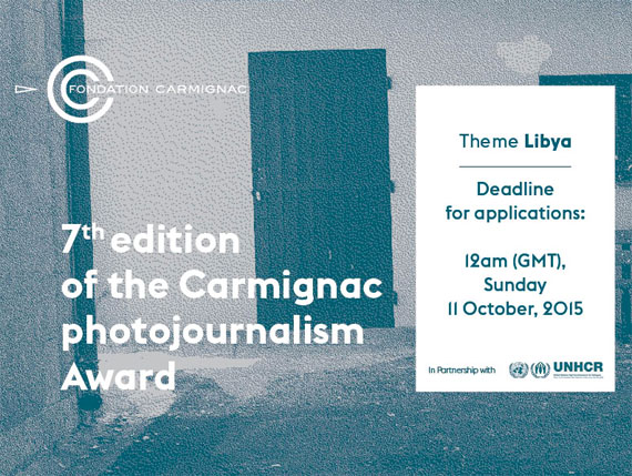 7th EDITION OF THE CARMIGNAC PHOTOJOURNALISM AWARD