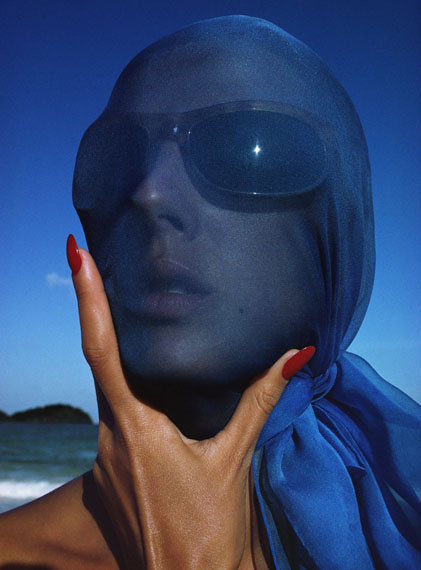 Tilly Tizzani with Blue Scarf, Antigua, West Indies, 1963 © Hiro