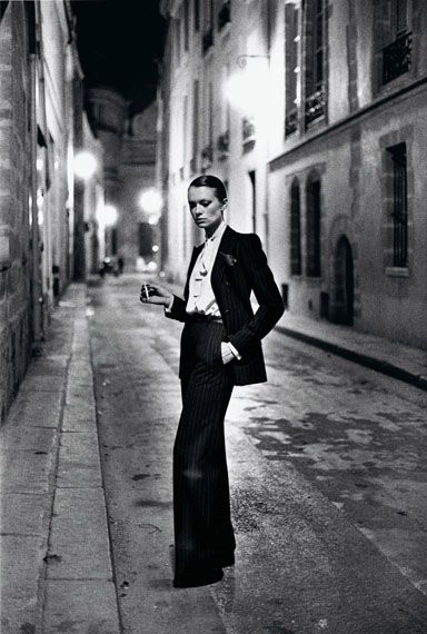 Yves Saint Laurent, French Vogue, Rue Aubriot, Paris 1975© Helmut Newton Estate / Maconochie Photography