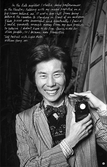William Yang Self portrait with light meter, 1987. Inkjet print, 38 x 24cm.