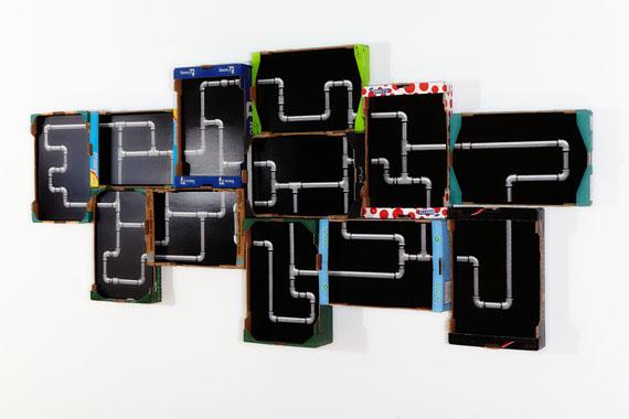 Ulf Saupe: Garten Eden II, Archival Pigment Print, Transportkisten, Holz, 140 x 300 cm, Unikat, 2016