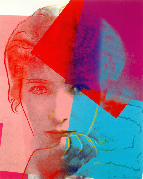 Andy Warhol: Sarah Bernhardt, 1980, Siebdruck, 101,6 x 81,3 cm, Repro Franz Kimmel