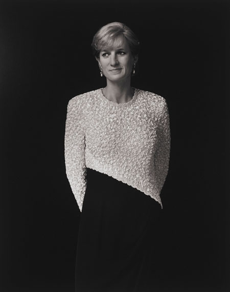 Lot 122Hiroshi Sugimoto (B. 1948)Diana, Princess of Wales, 1999gelatin silver print, flush-mounted on panelsigned in ink and credited, titled, dated, and numbered '4/5' on affixed typed studio label (frame backing board)image/sheet/flush mount: 58.3/4 x 47 in. (149.2 x 119.4 cm.)$100,000-150,000