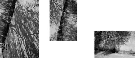 Silke Grossmann: Falkensteiner Ufer, 2000, 3 Fotografien auf einem Blatt, Pigmentdruck, 53 x 123 cm © Silke Grossmann