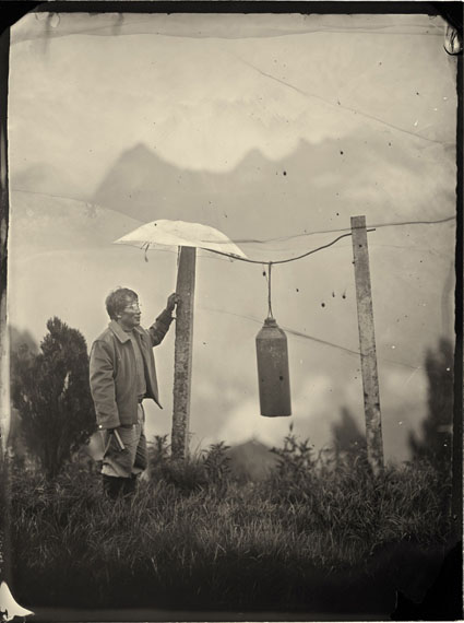 LUO DAN: Simple Song No.25: John Ringing The Bell (2010) Pigment print on fiber paper from wet-plate collodion process. 30x21cm - Edition of 20; 147.3x111.8cm - Edition of 8