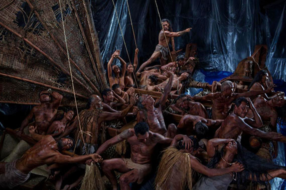 Greg SemuSamoan born 1971The Arrival, diptych 2014–15type C photograph(a-b) 126.5 x 168.7 cm (image and sheet) (each)Collection of the artist, Sydney© Greg Semu, courtesy Alcaston Gallery, Melbourne