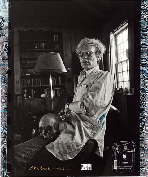 Peter Beard: Andy Warhol at home in Montauk, Church Estate, New York, 1972Gelatin silver print with collage, 2002. 60 x 50,4 cm. Unique