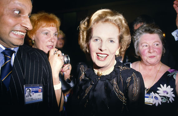 Chris Steele-Perkins. Prime Minister Margaret Thatcher during the Conservative Party Conference, 1985. © Chris Steele-Perkins / Magnum Photos