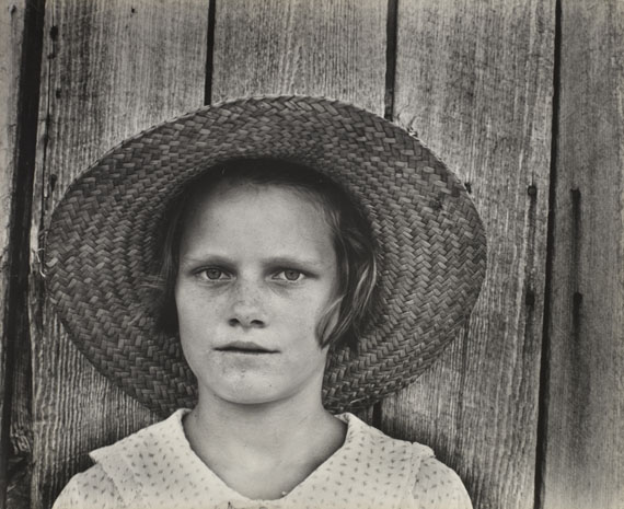 Walker Evans: Lucille Burroughs, the daughter of a cotton cropper, Hale County, Alabama. 1935 or 1936.