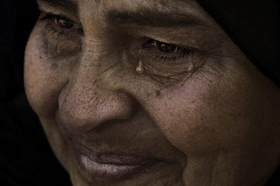 Laura El-TantawyFaces of a Revolution #7: Safeya's Tears, 2012(22 February 2012, Cairo, Egypt)©Laura El-TantawyCourtesy of the artist