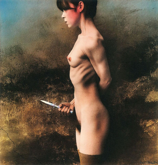 Jan Saudek: The-Knife, 1989