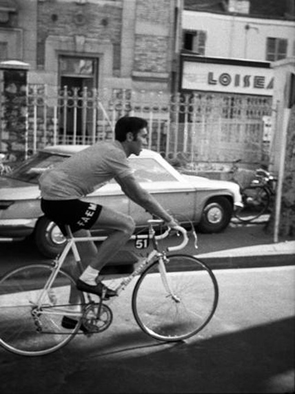 "Jef Geys, ""Eddy Merckx"", 1969. Black & White Photograhies. © KAZINI. Courtesy Air de Paris"