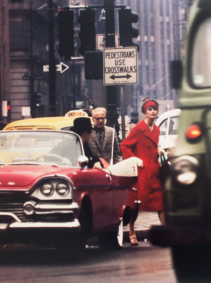William Klein, Anne St Marie + cruiser, New York, 1962 (Vogue), © William Klein