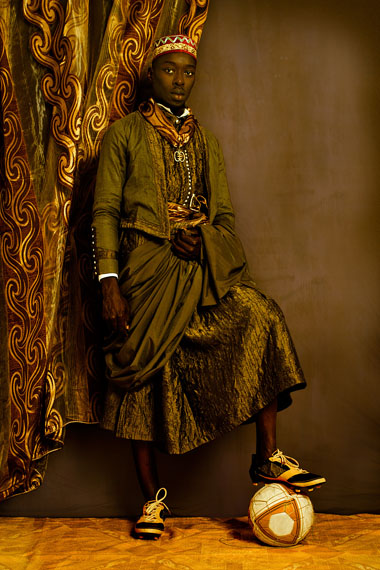 "Omar Victor Diop, ""Dom Nicolau,"" pigment inkjet print on Hahnemühle paper, 2014. Courtesy of the artist and MAGNIN-A, Paris."