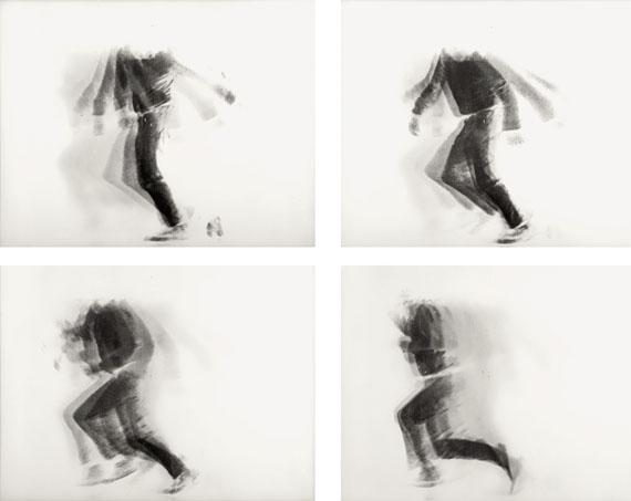 Alfons SchillingThe Falling Man, 1969Lenticular photograph, 4 views© Estate of Alfons Schilling