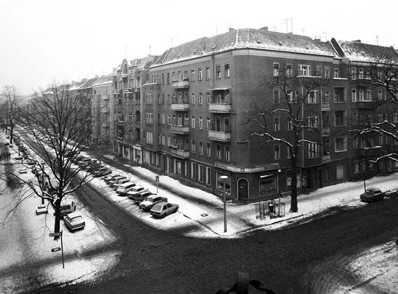 Hufelandstraße, Ecke Bötzowstraße, Januar 1987 © Harf Zimmermann