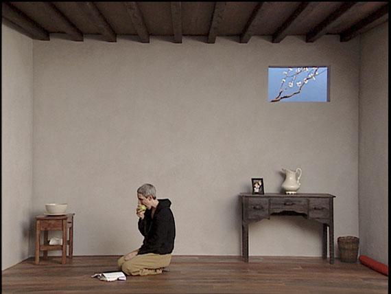 Bill Viola: Catherine's Room, 2001Color video polyptych on five LCD flat panels mounted on wallPerformer: Weba Garretson © Kira Perov, courtesy of Bill Viola Studio
