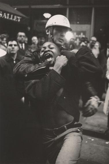 Danny Lyon: Arrest of Taylor Washington, Atlanta, 1963 © Danny Lyon / Magnum Photos. Courtesy Gavin Brown's Enterprise