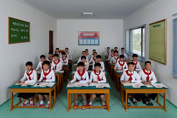 Wang Guofeng, North Korea 2014, English Class at Pyongyang International Football School, 271х180cm