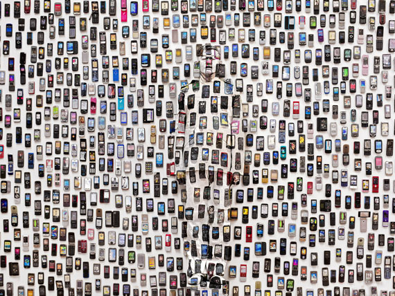 Liu Bolin Mobile Phone 2012 Courtesy: Three Shadows Photography Art Centre