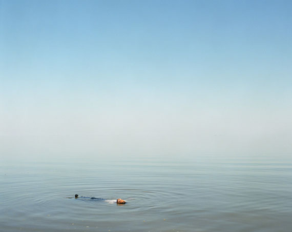 "Ron Jude: ""Boy Floating in Water"", 2012, from the series ""Lago"", Archival Pigment Print, 90 x 112 cm"