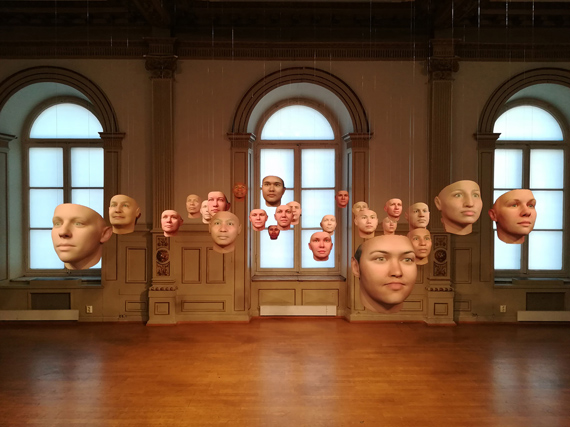 HEATHER DEWEY-HAGBORGProbably Chelsea, A Becoming Resemblance2017, Thirty possible Chelsea's generated algorithmically from her DNA. 3d PrintsDimensions variableCourtesy Fridmann Gallery New York