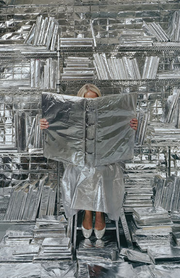 Rachel Perry Lost in my Life (wrapped books), 2010Pigminted ink print, edition of 391.25 x 60 inchesCourtesy of the Artist, Barbara Krakow Gallery (Boston), Gallery Joe