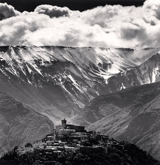 Michael Kenna - Abruzzo series - Gathering Clouds, Casoli, Abruzzo, Italy. 2016