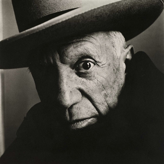 Irving Penn: Pablo Picasso at La Californie, Cannes, 1957 © The Irving Penn Foundation