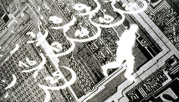 Astrid KleinGedankenchips, 1983Silbergelatine-Abzug auf schwarzweißes PE-Papier 126 x 208 cm