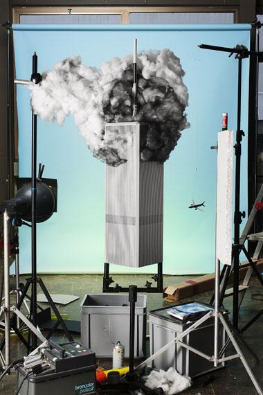 "Making of ""9/11"" (von Tom Kaminski, 2001), 2013© Jojakim Cortis & Adrian Sonderegger"