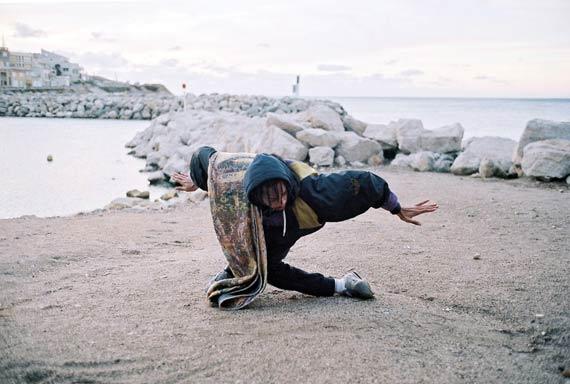 Laure Prouvost: film still, video Deep See Blue Surrounding You / Vois Ce Bleu Profond Te Fondre  2019Set photography, C-print. © Laure Prouvost, Courtesy of Martha Kirszenbaum.