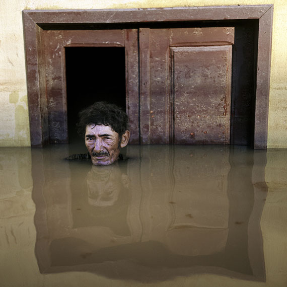 "João Pereira de Araújo, Taquari District, Brazil, March 2015, from the series ""Submerged Portraits"" © Gideon Mendel"