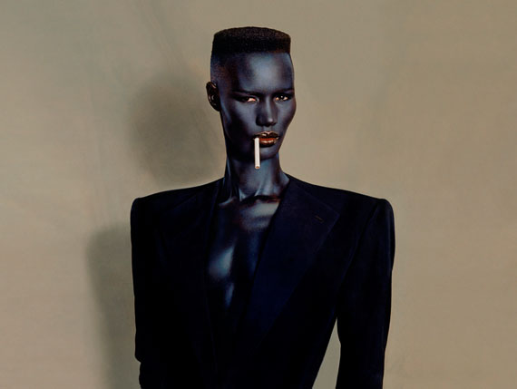 Blue-black in black on brown, New York, 1981.