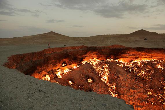 Adrien Missika , Documentation photograph of Darvaza, Turkmenistan, 2011. Courtesy of the artist