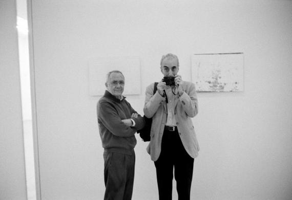 Gerhard Richter und Benjamin Katz, 2007, Foto: B. Katz
