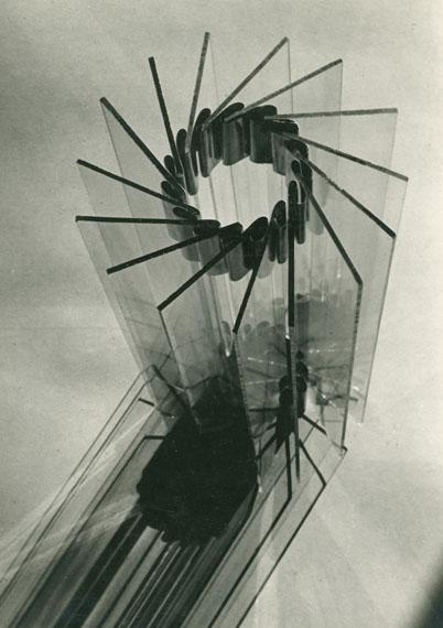 Material study, glass-metallpreliminary course Fritz SchleiferLandeskunstschule Hamburg 1930–33photograph, 17 x 23 cmHamburgisches Architekturarchiv – Bestand Fritz Schleifer© Jan Schleifer
