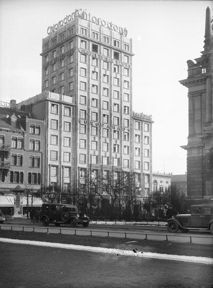 Atelier Hermann Walter: Augustusplatz 7, Europahaus, 1932
