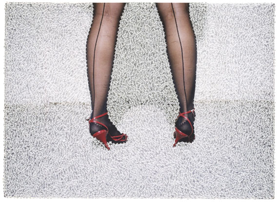 Sissi Farassat: Red Shoes, 2016, 28 x 38 cm, C-Print with Swarovski, unique piece