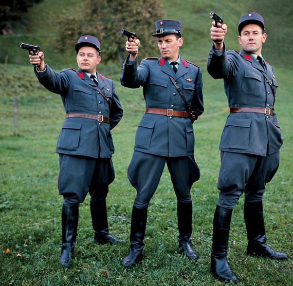 Polizist, Photograph, Schweizer