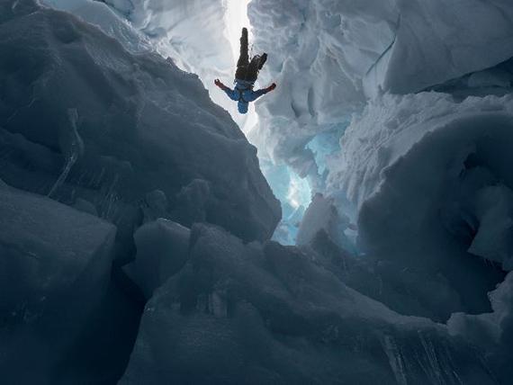 Kenzie inside a Melting Glacier, Juneau Icefield Research Program, Alaska, 2016 © Lucas Foglia courtesy of the artist