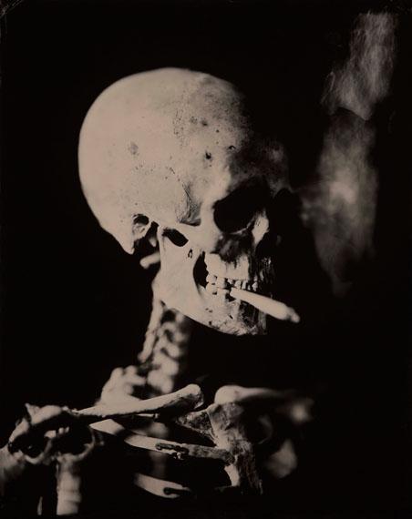 Hans de Kort: Head of a Skeleton with a Burning Cigarette, 2018