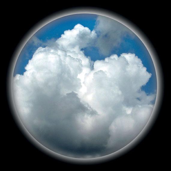 """Kurt Buchwald: Wolkenbild (""""Die Himmel"""", Bretagne, Frankreich), 2011C-Print, 40 x 40 cm"""