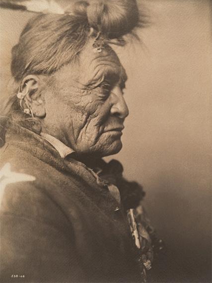 Hoop on the Forehead - Apsaroke, 1908Vintage platinum print16.63 x 12.5 in. (42.24 x 31.75 cm.)Estimate: $15,000-20,000more ...