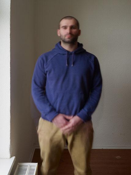 Michael Wesely, Pavel Pavlov (15.09 - 15.14 Uhr, 7.5.2012), C-Print, 60 x 80 cm, UltraSec, Metallrahmen