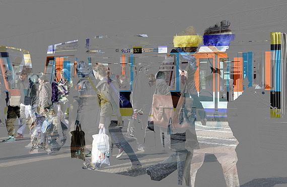 """Kurt Laurenz Theinert: """"Zeitfenster Darmstadt"""", 2010, Fineart Digitalprint auf AluDibond, 90 x 140 cm"""