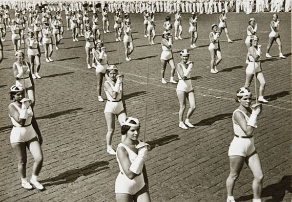 A.M. Rodchenko. The column of fenceresses. 1936