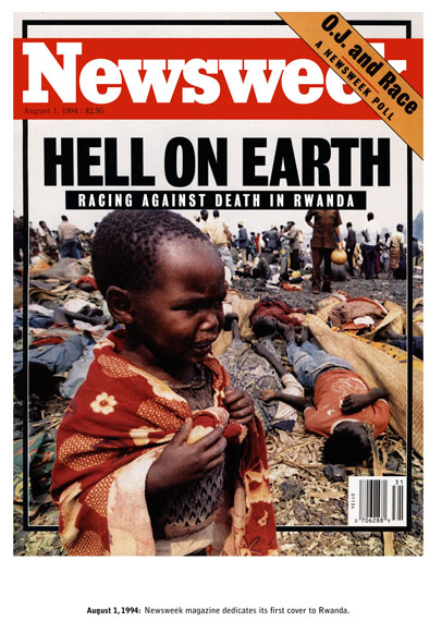 Alfredo JaarUntitled (Newsweek), 1994 (detail)17 Laser Prints 48.3 x 33 cm Edition of 6Courtesy of the artist