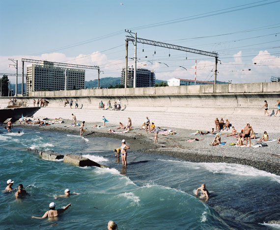 Rob Hornstra: The Beach, Adler, Sochi Region, 2011© Rob Hornstra / Flatland Gallery. From: An Atlas of War and Tourism in the Caucasus (Aperture, 2013)